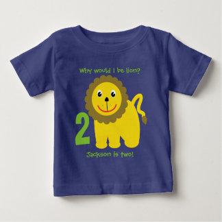 T-shirt Pour Bébé Anniversaire de lion mignon deuxième