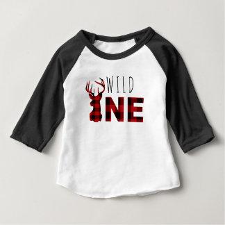 T-shirt Pour Bébé Anniversaire sauvage du plaid un | de bûcheron