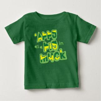 T-shirt Pour Bébé 'Appy comme porc en fumier Yorkshire indiquant la