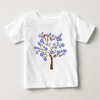 T-shirt Pour Bébé Arbre d'oiseau d'oeil mauvais