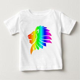 T-shirt Pour Bébé Arc-en-ciel Lion #2