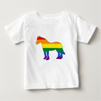 T-shirt Pour Bébé Arc-en-ciel Pitbull