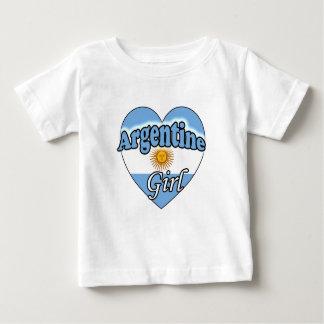 T-shirt Pour Bébé Argentine Girl
