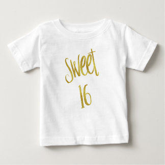 T-shirt Pour Bébé Arrière - plan de scintillement d'or de Faux de