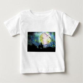 T-shirt Pour Bébé Art de peinture de jet de paysage de l'espace de