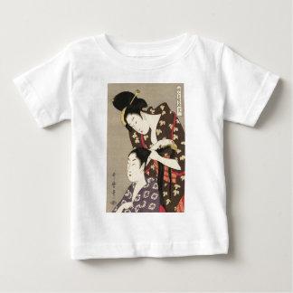 T-shirt Pour Bébé Art d'Utamaro Yuyudo Ukiyo-e de la coiffure des