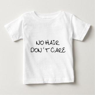 T-shirt Pour Bébé Aucun cheveu ne s'inquiètent la chemise de bébé