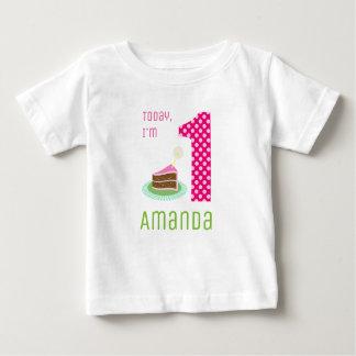 T-shirt Pour Bébé Aujourd'hui je suis 1 gâteau d'anniversaire