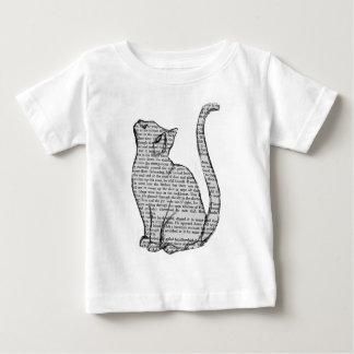 T-shirt Pour Bébé autocollant de livre de lecture de chat