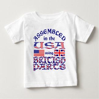 T-shirt Pour Bébé Avant britannique de pièces