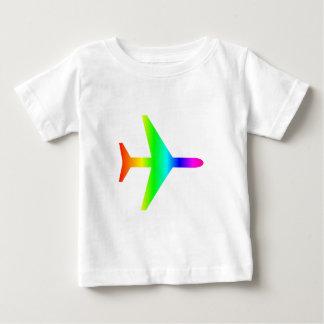 T-shirt Pour Bébé Avion d'arc-en-ciel