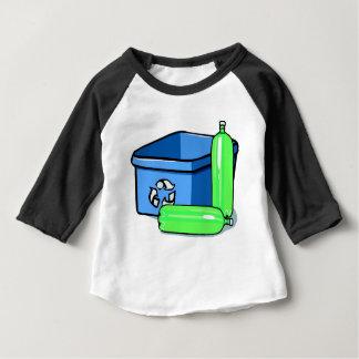 T-shirt Pour Bébé Bac de recyclage et bouteilles