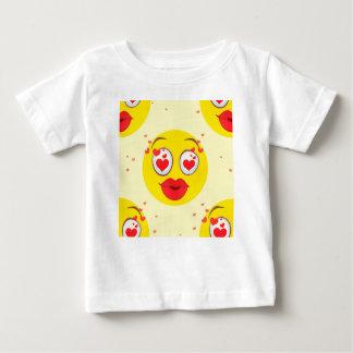 T-shirt Pour Bébé Baiser Emoji de Valentine