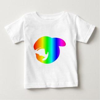T-shirt Pour Bébé Baleine d'arc-en-ciel