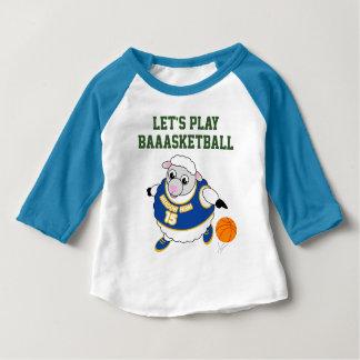 T-shirt Pour Bébé Bande dessinée d'amusement d'un mouton ruisselant