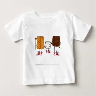 T-shirt Pour Bébé Bande dessinée drôle de caractères de Smores