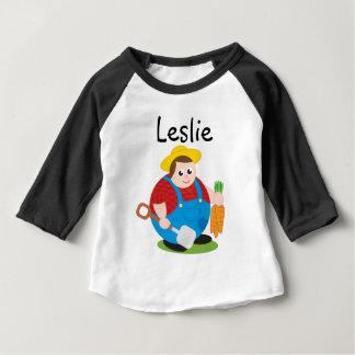 T-shirt Pour Bébé Bande dessinée moderne mignonne d'un agriculteur
