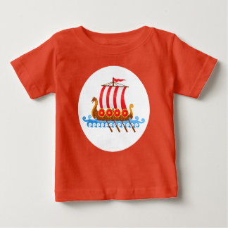 T-shirt Pour Bébé Bateau de Viking