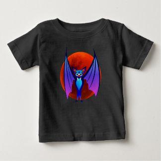 T-shirt Pour Bébé Batte bleue de Halloween