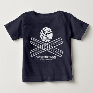T-shirt Pour Bébé Bébé de volleyball de S&C sur l'habillement foncé