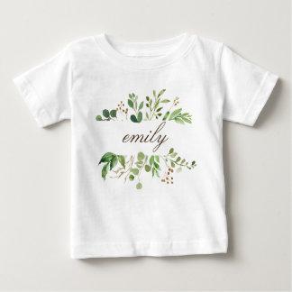 T-shirt Pour Bébé Bébé nommé personnalisé par verdure