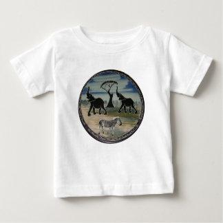 T-shirt Pour Bébé Belle faune élégante de l'Afrique Kenya