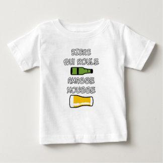 T-shirt Pour Bébé BIERE qui roule amasse mousse - Jeux de Mots