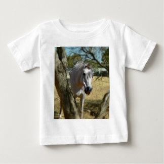 T-shirt Pour Bébé Blanc de neige le cheval, _