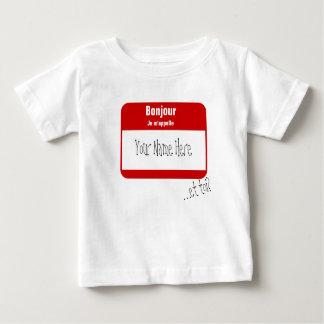 T-shirt Pour Bébé Bonjour, m'appelle de Je… /Salut, mon nom est
