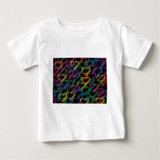 T-shirt Pour Bébé Bouillonne les couleurs au néon d'arc-en-ciel