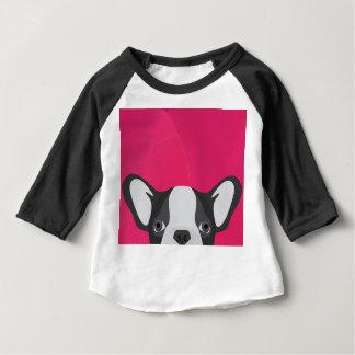 T-shirt Pour Bébé Bouledogue français d'illustration avec l'arrière