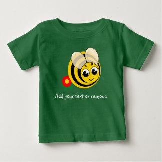 T-shirt Pour Bébé Bourdon rayé noir et jaune de bande dessinée