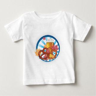 T-shirt Pour Bébé Bretzel de bande dessinée avec de la bière