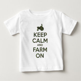 T-shirt Pour Bébé Camo gardent le calme et cultivent dessus