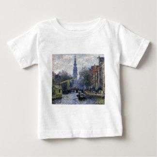 T-shirt Pour Bébé Canal à Amsterdam par Claude Monet