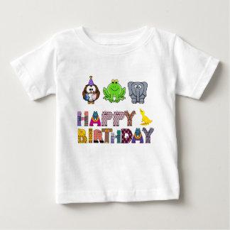 T-shirt Pour Bébé Canard lunatique Brithday heureux d'éléphant de