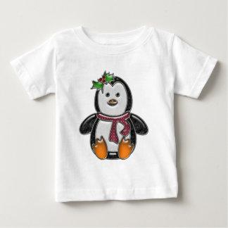 T-shirt Pour Bébé Caractère mignon de bijou de Faux de pingouin