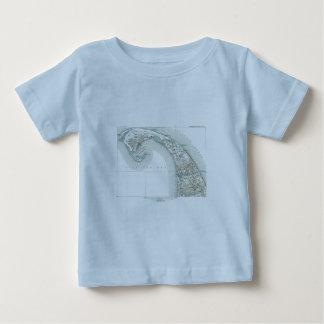 T-shirt Pour Bébé Carte de Provincetown Cape Cod le Massachusetts