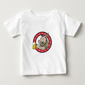 T-shirt Pour Bébé Cercle de buveur de bière d'âne rétro