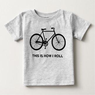 T-shirt Pour Bébé C'est comment je roule le recyclage