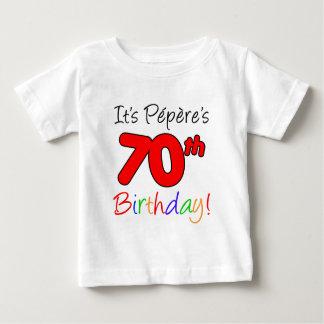 T-shirt Pour Bébé C'est le soixante-dixième anniversaire de Pepere