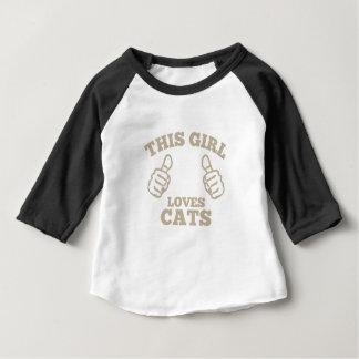 T-shirt Pour Bébé Cette fille aime des chats