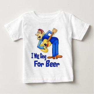 T-shirt Pour Bébé Chantez pour la bière