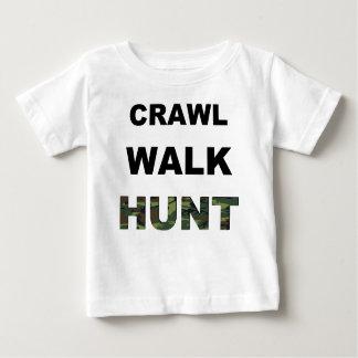 T-shirt Pour Bébé chasse à promenade de rampement