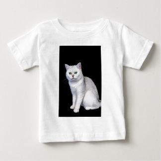 T-shirt Pour Bébé Chat britannique ombragé par argent noir de