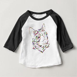 T-shirt Pour Bébé chat coloré