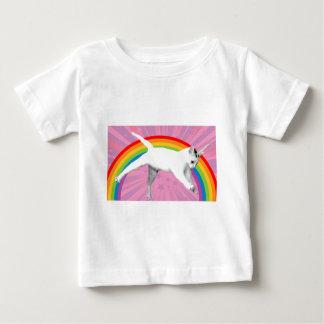 T-shirt Pour Bébé Chat d'arc-en-ciel de licorne