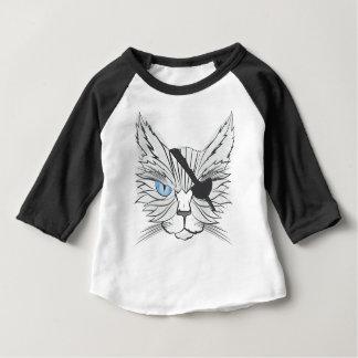 T-shirt Pour Bébé Chat de pirate de dessin