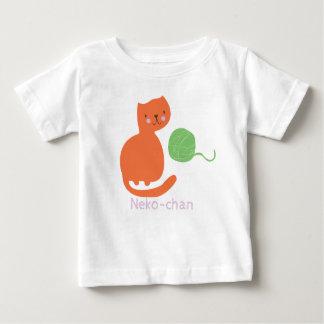 T-shirt Pour Bébé Chat orange mignon de Kawaii Kitty. Ajoutez le nom