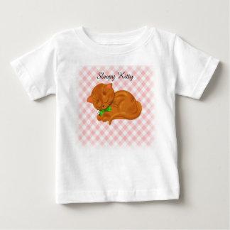 T-shirt Pour Bébé Chaton mignon de sommeil